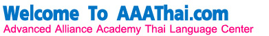 Thai language school : www.AAAThai.com